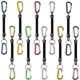 Wilxaw 10 Stück Angeln Lanyard, Stretchy Spirale Schlüsselring, Elastisch Sicherheitsseil Spule...