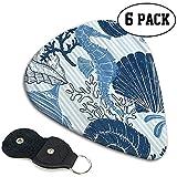 Striped Sea Shell Hippocampus Coral Plektren (6er-Pack) - Akustikkollektion für männliche und...