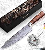 Caridano® Messerset - Fleischmesser inkl. Bratenthermometer - Kochmesser mit ergonomischem...