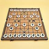 FunnyGoo Beechwood Xiangqi Chinesisches Schachspiel mit Faltschachtel Schachbrett, Groe Gre 4 cm...