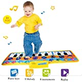 XINYAN JIA Musikalische Matten Fr Kinder, Klaviermatten Touch Play Spiel Tanzmusik Teppich, Tragbare...