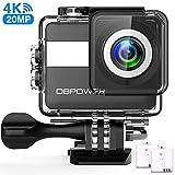 DBPOWER N6 Action-Kamera HD 4K 20MP WiFi Touchscreen, Smart Unterwasserkamera 30M, EIS...