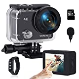 WEAKNESS Action Kamera, 4K 24MP WiFi Unterwasserkamera 40M Wasserdicht Kamera + 32GB Micro SD Karte,...
