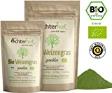 Weizengraspulver BIO (500g) Weizengras Pulver aus aus deutschem Anbau in Rohkostqualität vom...