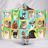 RNGIAN Tierdecke für Hunde und Katzen, sehr weich, Polyester, weiß, 150x200cm