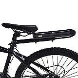 GOTOTOP schwarz Fahrrad-Gepäckträger Alu-Gepäckträger Mountainbike Gepäckträger Hinten Regal,...