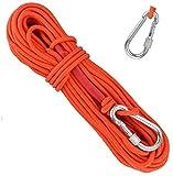 Kletterseil Hochfeste Sicherheitsseile Lang 20m Durchmesser 6mm Statisches Seil Outdoor Rettungsseil...