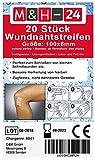 20er Set Wundnahtstreifen-Strips / Klammerpflaster Nahtmaterial Wundverschluss-Streifen 6 x 100 mm