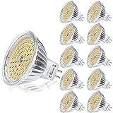 Yafido 10er GU5.3 LED Warmweiß MR16 12V 5W Ersatz für 35W Halogen Lampen GU5.3 2800K 400 Lumen...