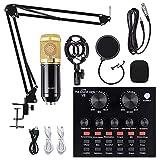BM-800 Studio Tisch Mikrofon,Mischpult Kompakt Digital Audio Mixer 2-Kanal,DJ Mixer, Musik Mixer...