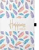 Hardcover Notizbuch A5 / mit Stifthalter / 176 karierte Seiten/wechselnde Motivationssprüche auf...