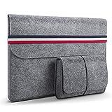 HOMIEE 13-13.3 Zoll Laptoptasche mit extra Aufbewahrungsbox, Filz Sleeve Hülle Laptop Ultrabook...