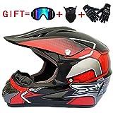 N/A NA Handschuhe Fashion Outdoor Off Road Casco Motorrad & Moto Dirt Bike Motocross Racing Helm Set...