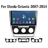 Autonavigation, 10 Zoll Android 8.1 2.5D Full Touch für Skoda octavia 2007-2014 Multimedia...