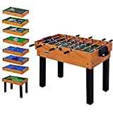 WIN.MAX WinMax Multifunktionsspieltisch, Tischkicker inkl. 12 Verschiedene Spiele, 106.7x61x81.3 cm...