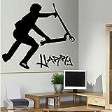 Vom Kunden Angefertigte Personalisierte Stunt-Scooter-Wandtransfer-Kunstaufkleber-Poster-Aufkleber -...