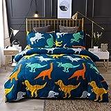 LOVEXOO 3D Bettwsche Cartoon Dinosaurier 220x260cm Bettbezug fr Kinder, Jungen, Mdchen Bettwsche-Set...