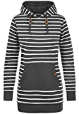 Blend SHE Cloey Damen Kapuzenpullover Hoodie Long Sweatshirt mit Fleece-Innenseite Longline...