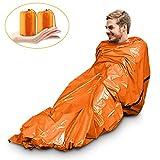 Magicfun Notfall Biwak-Sack - Survival Schlafsack  Klteschutz Thermo-Isolierung Leuchtend Orange...