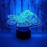 Motorrad 3D Nachtlicht LED 7 Farbvariable berührbare Fernbedienung Schalter Schlafzimmer Dekoration...
