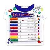 qingqingR 8Pcs Kleidung Textilmarker Stoff Malstifte DIY Crafts T-Shirt Pigmentfarbe
