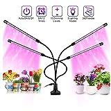 JZH Pflanzenlampe LED Pflanze Wachsen Licht 40W Mit 80 Lampenperlen, 3 Automatisch Timer(3H/9H/12H),...