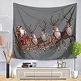 Weihnachtsmann Muster Wandteppich Wandbehang Indian Wall Decor Hippie Tapisserien Wurfblatt...