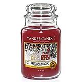 Yankee Candle Duftkerze im Glas (groß) | Christmas Magic | Brenndauer bis zu 150 Stunden