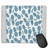 Wand Ananas blau weiß rutschfest personalisierte Designs Gaming Mauspad Rechteck Mousepad Gummimaus...