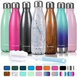 arteesol Wasserflasche aus Edelstahl,doppelwandig thermosflasche,350/500/750ml auslaufsicher, hält...