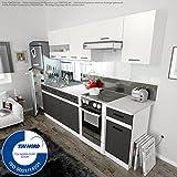 Küche 240cm von FIWODO® - ERWEITERBAR - günstig + schnell - Einbauküche Junona Line Set 240-4...