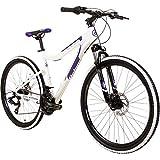 Galano GX-26 26 Zoll Damen/Jungen Mountainbike Hardtail MTB (Weiss/lila, 44cm)