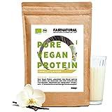Protein-Pulver Vegan BIO Vanille ohne Soja [aus Deutschland] - 3K Bio Reis-, Hanfprotein &...