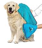 Delphin & Hund – Handtuch für Hunde – super saugfähiges Hundehandtuch – schnell trocknend &...