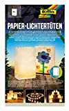 folia 11900 - Lichtertüten aus schwer entflammbarem Papier, blanko, 5 Stück je ca. 19 x 11,5 x 7...