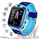Kinder Intelligente Uhr Wasserdicht, Smartwatch LBS Tracker mit Kinder SOS Handy Touchscreen Spiel...