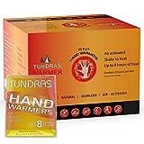 Tundras Handwärmer 40 Stück – sicher und geruchlos Einmalgebrauch luftaktivierte Wärmepackungen...