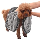 Wonnell Handtuch für Hunde,Badetuch für Haustiere Hunde Trockentuch Mikrofaser-Handtuch Super...