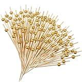 120 Stück künstliche Perlen Zahnstocher Holz Cocktail Picks Handmade Sticks Vorspeisen Zahnstocher...