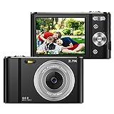 ZORNIK 2.7K Digitalkamera,Kamera Digital 2,88-Zoll-LCD-Akku HD 44 Megapixel 16-facher Digitalzoom,...