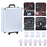 Werkzeugkoffer-999-teilig-Werkzeugkasten-Werkzeugset-Werkzeugbox-Werkzeugtrolley, Werkzeug...