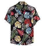 Kolila Herren Hawaii Shirts Hemden Mehrfarbiges T-Shirt T Shirts Casual Sommer Ethnischen Stil...