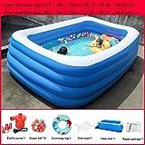 PP Erwachsene Aufblasbare Pool aufblasbare Baby-Schwimmen-Ring mit elektrischer Luftpumpe Wasser...