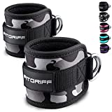 Fitgriff Fuschlaufen (gepolstert) - fr Fitness Training am Kabelzug - (2 Stck) Ankle Straps fr...