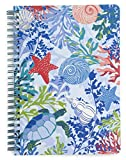 Vera Bradley Mini Spiral Notebook with Pocket and 160 Lined Pages, Pretty Posies