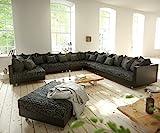 DELIFE Couch Clovis modular - Ecksofa, Sofa, Wohnlandschaft & Modulsofa (Schwarz/Schwarz, Sofa XXL...