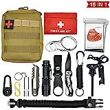 Abida Survival Kit, 15 in 1 Outdoor Emergency Survival Kit mit Survival-Decke, Klappmesser,...