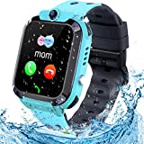 Smartwatch Kinder Uhr Tracker Kinder, TLLAYGM Wasserdicht LBS Smartwatch für Kinder Touchscreen...