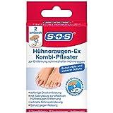 SOS Hühneraugen-Ex Kombi-Pflaster, Hühneraugen Pflaster für sofortige Druckentlastung,...