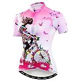Weimostar Mountainbike-Jersey-Shirts der Radfahren Jersey-Frauen Kurze Hülse Straße...